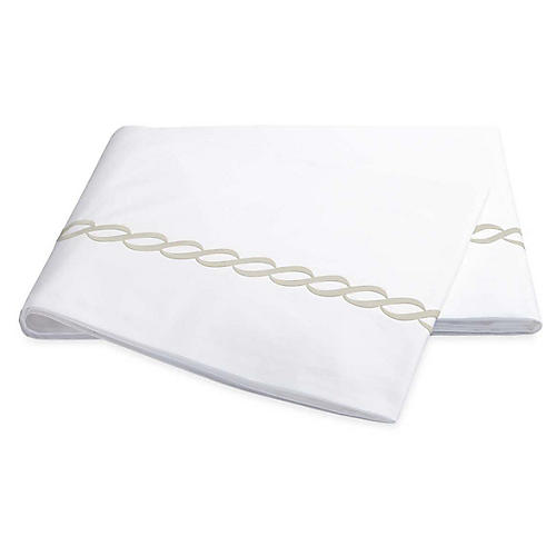 Classic Chain Flat Sheet, Almond