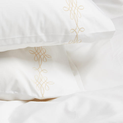 S/2 Bernini Std Pillowcases, Champagne
