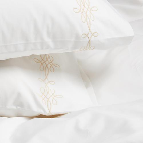 S/2 Bernini Std Pillowcases, Champagne