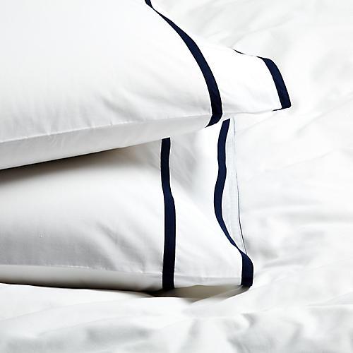 S/2 Collana Standard Pillowcases, Navy