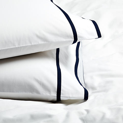 S/2 Collana Standard Pillowcases, Navy
