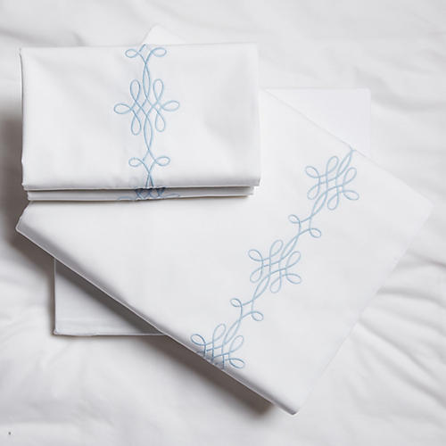 Bernini Sheet Set, Lt Blue