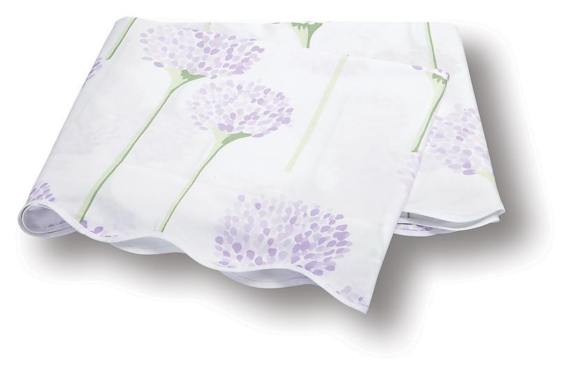 Lulu DK, Charlotte Flat Sheet, Lavender