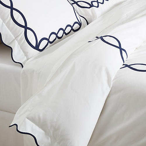 Gianna Duvet Set, Navy