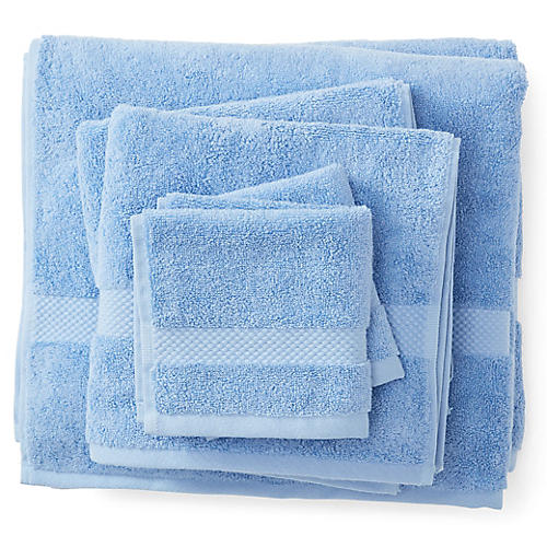 6-Pc Merano Towel Set, Azure