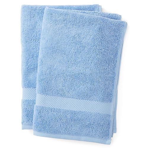Merano Hand Towels, Azure