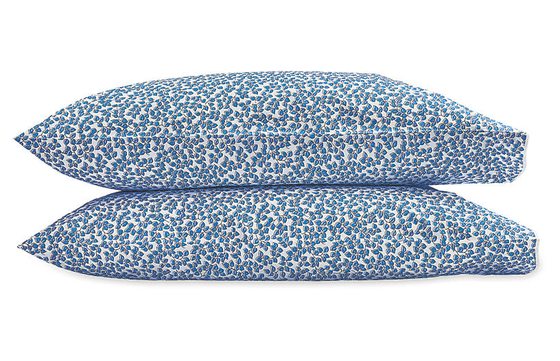 S/2 Margot Pillowcases, Cornflower