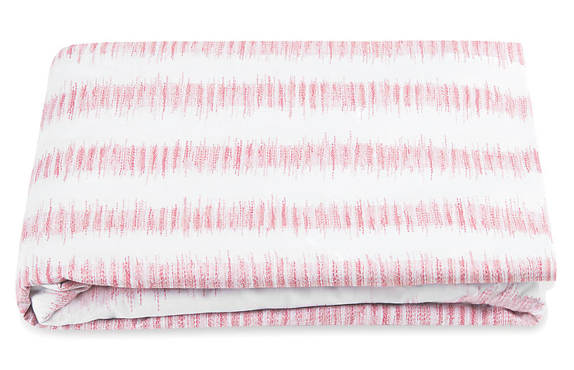Attleboro Fitted Sheet, Pink Coral