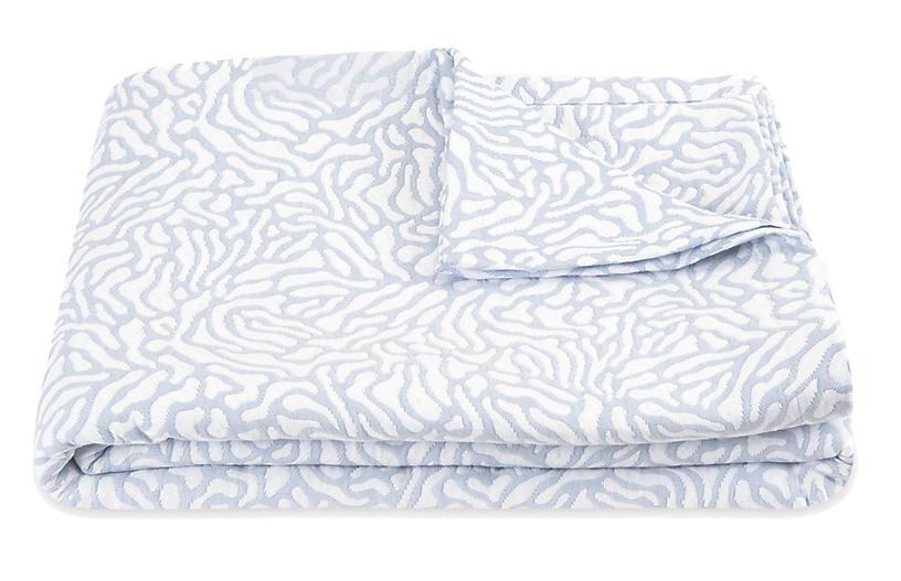 Cora Coverlet, Blue/White