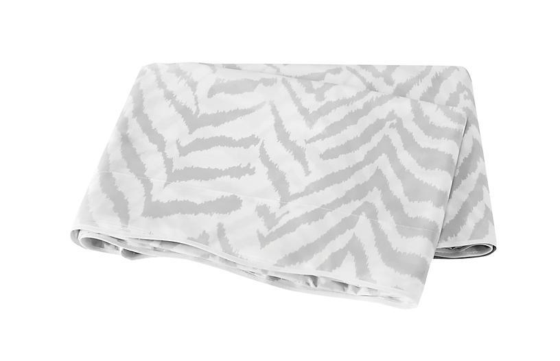 Quincy Flat Sheet, Silver