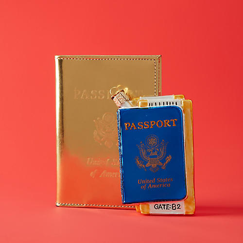 US Passport Ornament, Blue/Multi