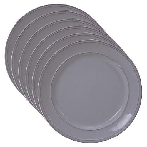 S/6 Misha Salad Plates, Cream