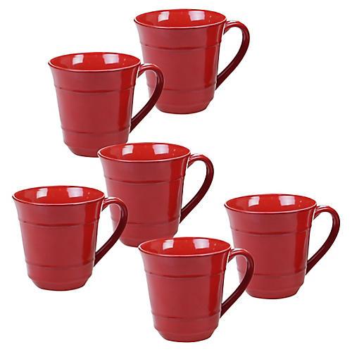 S/6 Misha Mugs, Red
