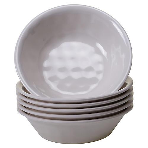 S/6 Wayne Melamine Bowls, Cream