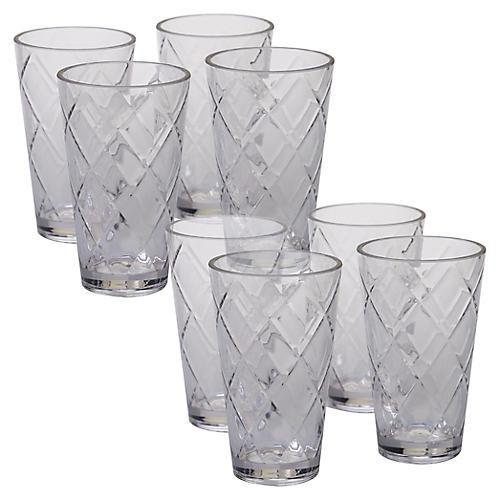 S/8 Drazen Acrylic Glass Set, Clear
