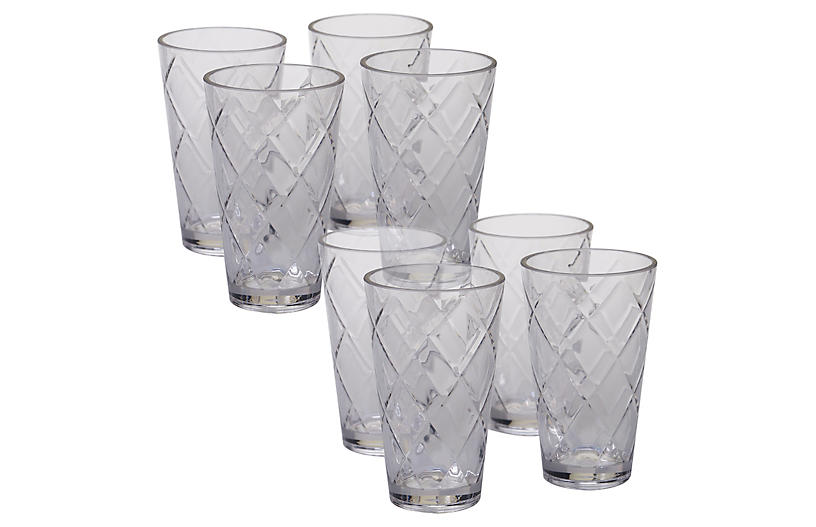 S/8 Drazen Acrylic Glass Set, Clear