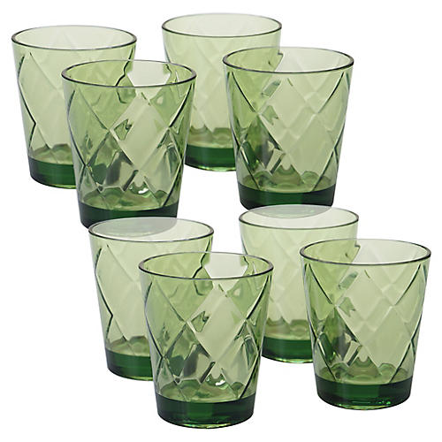 S/8 Drazen Acrylic DOF Glasses, Green
