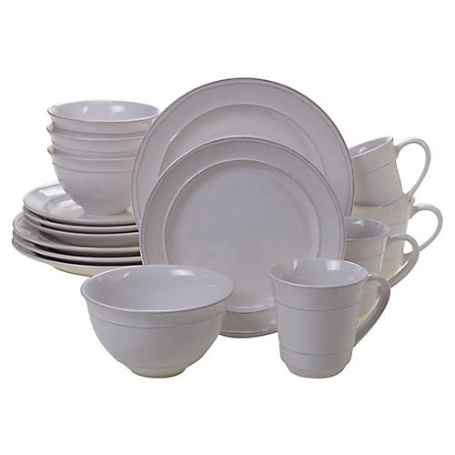 Asst. of 16 Misha Place Setting, Cream