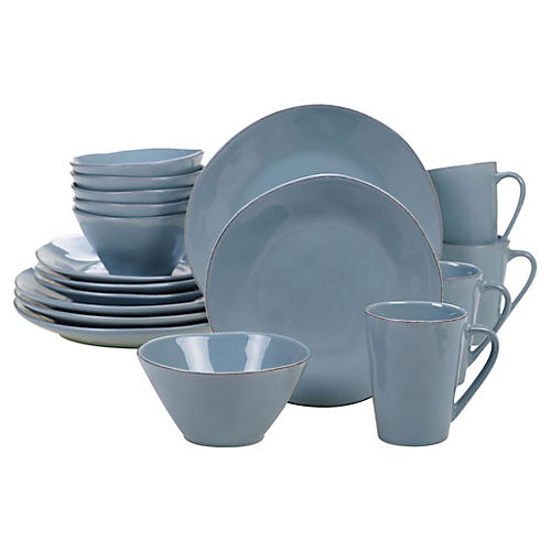 Asst. of 16 Salerno Place Setting, Teal