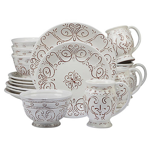 Asst. of 16 Ravello Place Setting, White