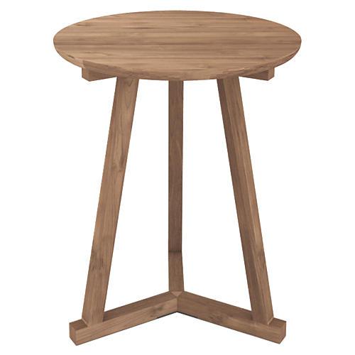 Tripod Tall Side Table, Teak