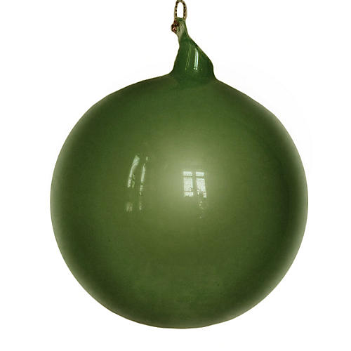 Feliz Ball Ornament, Evergreen