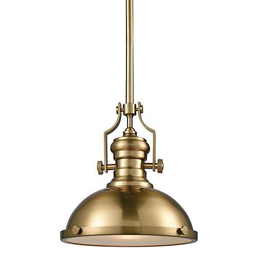 Cardona Pendant, Satin Brass