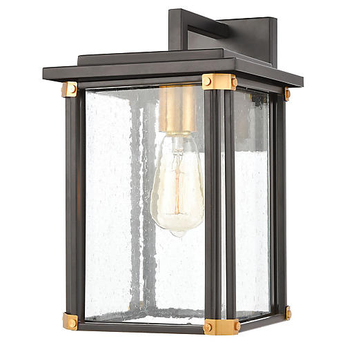 Vincentown Outdoor Sconce, Matte Black