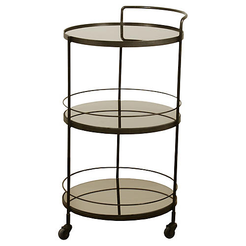 Lucy Bar Cart, Bronze