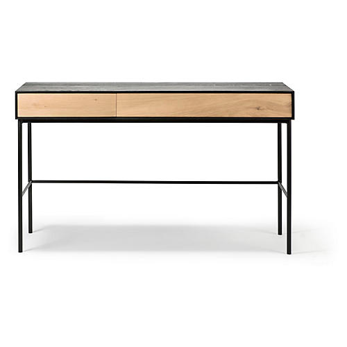 Blackbird Desk, Oak/Black