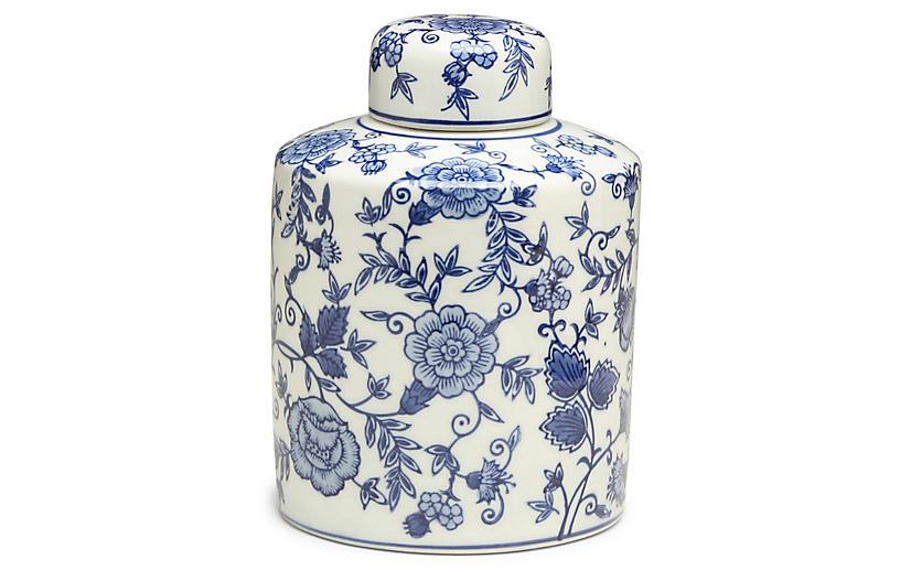 9 Arundel Cylindrical Ginger Jar Blue White