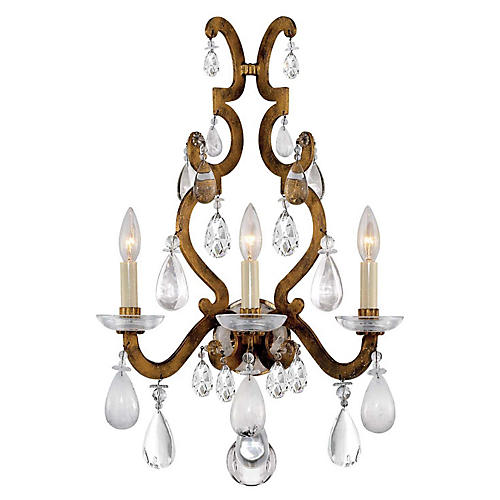 Marie Sconce, Gilded Iron/Crystal