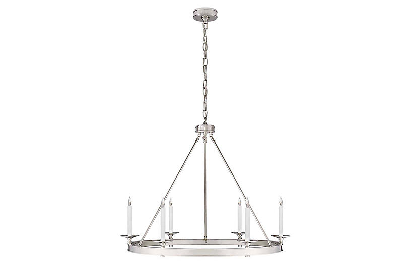 Launceton Ring Chandelier, Polished Nickel