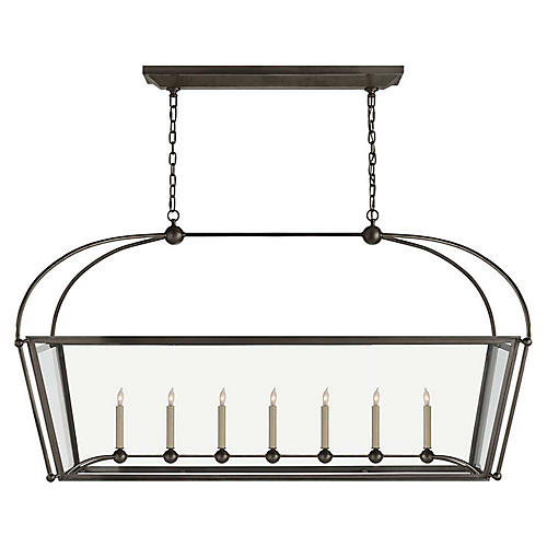 Plantation Linear Chandelier, Bronze