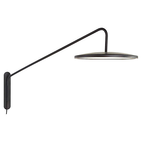Dot Articulating Sconce, Matte Black