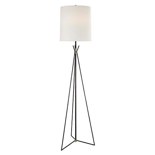 Tavares Floor Lamp, Aged Iron