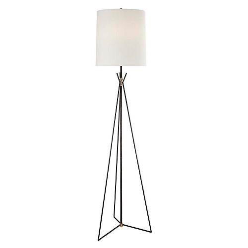 Tavares Floor Lamp, Aged Iron