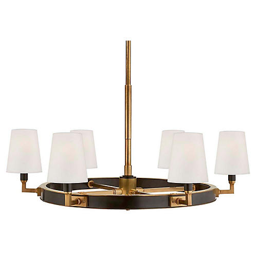 Watson Medium Ring Chandelier, Bronze/Brass