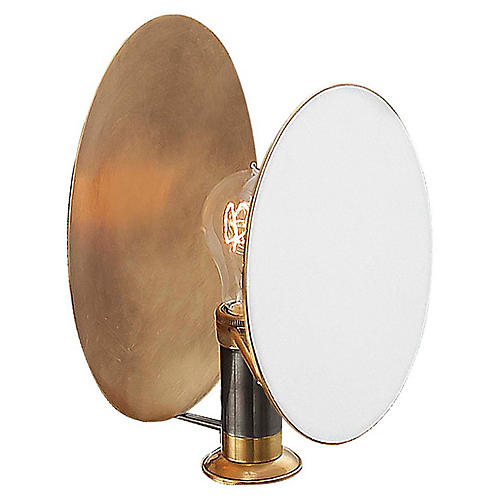 Osiris Reflector Sconce, Brass/Bronze