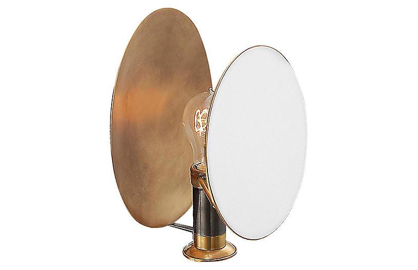 Osiris Reflector Sconce, Brass/Bronze