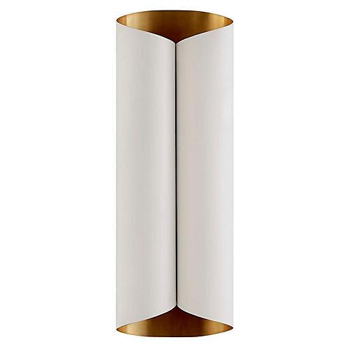 Selfoss Sconce, Plaster White/Gold