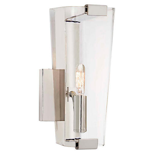 Alpine Single Sconce, Polished Nickel