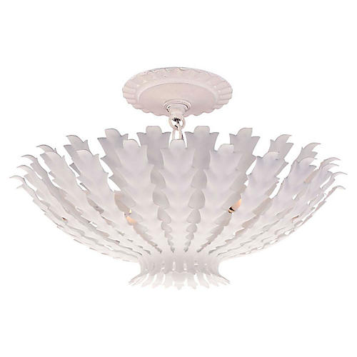Hampton Chandelier, Plaster White