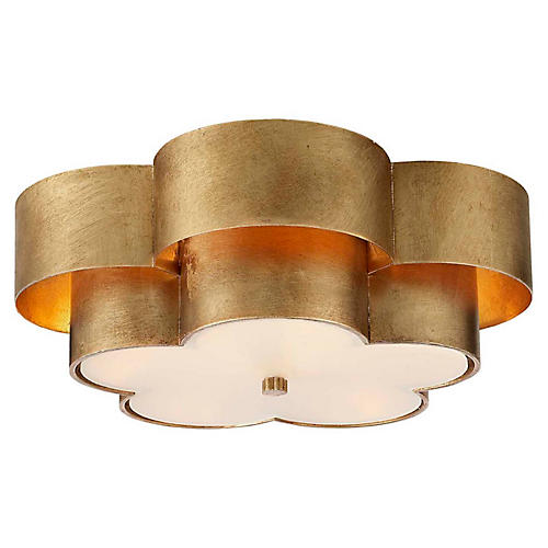 Arabelle Flush Mount, Gold