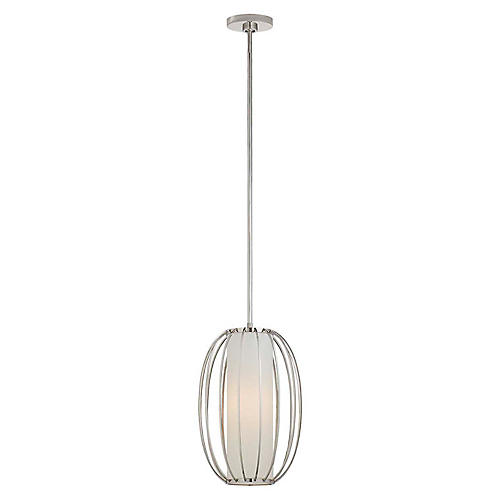 Carousel Oblong Pendant, Polished Nickel