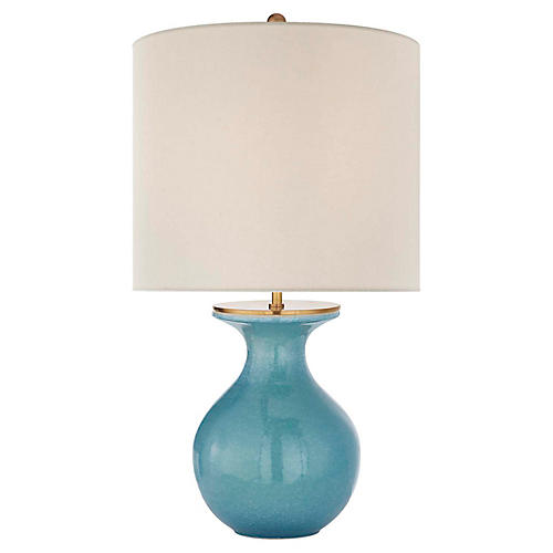 Albie Table Lamp, Sandy Turquoise