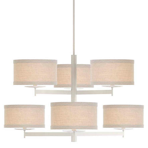Walker 2-Tier Chandelier, Light Cream