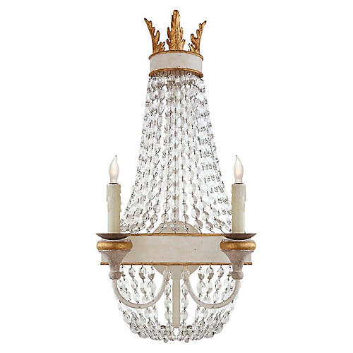 Entellina Sconce, Vintage White