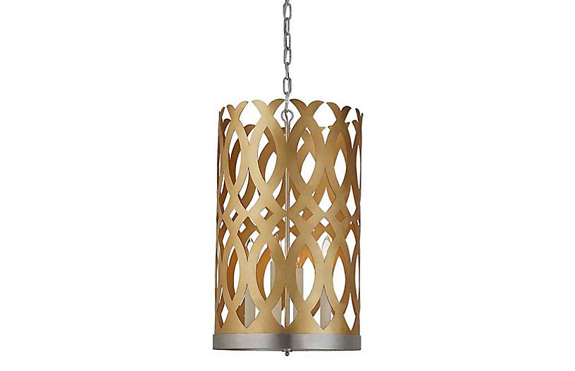 Ingrid Tall Chandelier, Gold