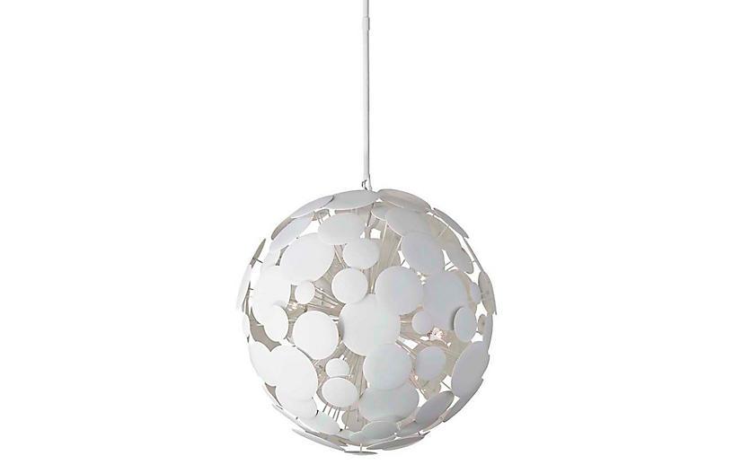 Luna Pendant, Matte White